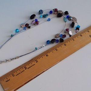Lia Sophia Jewelry - 1 Lia Sophia Blue  AND 1 Multi Glass Necklace